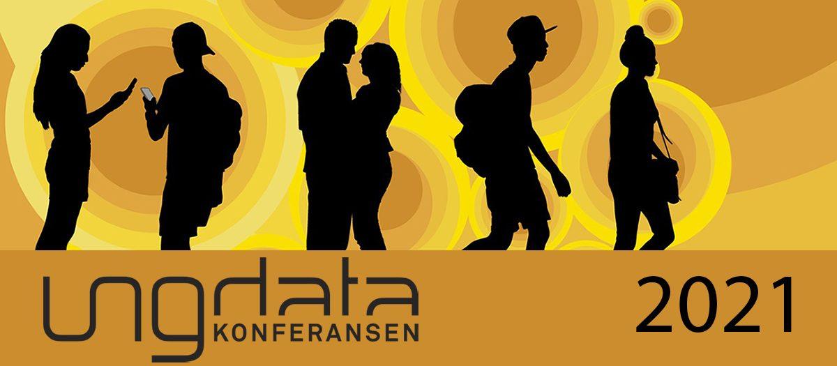 Logo-bilde for konferansen. Ungdommer i svart silhuett mot gul 70-tallsbakgrunn.